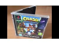 Crash Bandicoot N sane trilogy with limited PS1 case! Super rare (PS4 disc included)