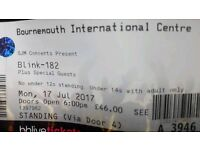 Blink 182 - 2x Standing Ticket - Bournemouth - Face Value