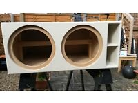 Subwoofer bass box for 2 subs 12'