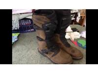 TCX Drifter motorbike boots size 11/12 uk