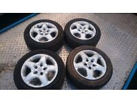 2007-2009 VAUXHALL VECTRA C ,ZAFIRA B SET OF 4 STEEL WHEELS AND VERY GOOD TYRES 215/55-16