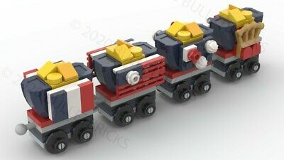 CUSTOM LEGO TRAIN HOPPERS for the POLYBAG set #30575 INSTRUCTIONS ONLY!!