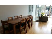 Walnut Dining table and 8 chairs for sale