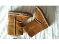 Next Baby Girls Tan Boots Size 4