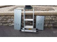 Aluminium 12 way adjustable ladder / platform