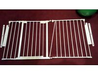 BABY KIDS SAFETY GATES 2 PARTS ALL TOGETHER 146 CM LONG