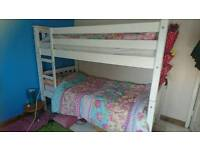 White sturdy bunk beds