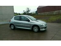 Peugeot 206 1.4 hdi only 76k 1 years mot. ( not polo golf 307 ibiza clio )