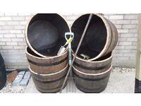 barrel planters for sale genuine oak