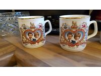 2 off Diana wedding mugs