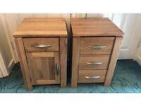 Solid Oak Galway Bedside Tables X 2 Oak Furniture Land