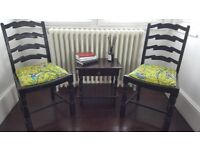 Charming oak dining chairs x4 Emma J Shipley Delivery Poss