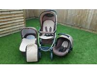 Hauck Pushchair Car Seat Carry Cot Complete Travel System