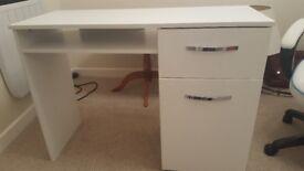 White Gloss Office Desk