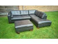 Leather corner sofa (free delivery)