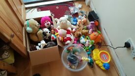 Big selection of toys a plush toys