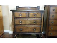Solid wood period chest of drawers £250
