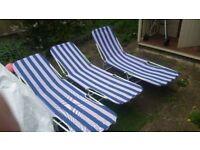 Sun Lounger Folding Recliner Chair Portable