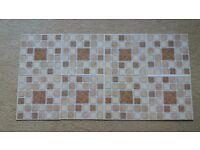 Vinyl wall tiles
