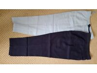 Ladies M&S linen trousers size 16 short leg x 2 pairs