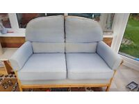 2 seater settee, chair and pouffe