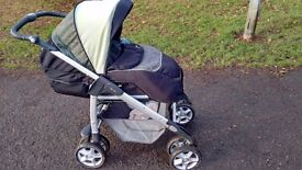 Silver Cross Linear Freeway Pram and Pushchair 3D travel system- Pistachio!!! £77