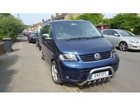 BEAUTIFUL VW T5 CARAVELLE 2.5 TDI BLUE 123686 MILES SECOND OWNER !!!!
