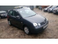 2004 VW POLO DIESEL 1.9, 11 MONTHS MOT, NEW SCREEN JUST FITTED, NEW WHEEL BEARINGS