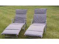 Garden SunLoungers with full cushions