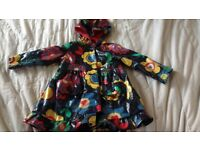 Cute girl warm raincoat 12-18 monts