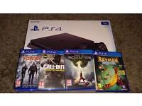 Ps4 Slim 1TB. Slim model. With 4 Games. 1 month old