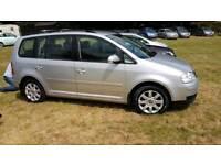VW touran se tdi 2005 mot full history diesel 7 seater mpv cheap car Kent bargain