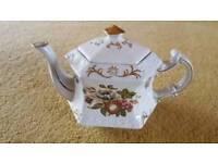 Vintage Ellgreave England Ironstone Hexagonal Teapot