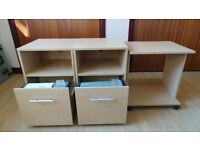Small filing cabinets and printer table on castors. Offers.