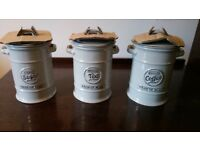 Tea coffee sugar jars