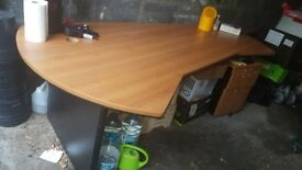 Large desk and set of drawers in good condition