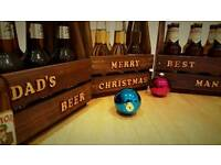 Handmade beer crates perfect Christmas or birthday presents
