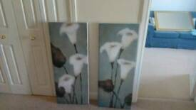 Two canvases good quality no marks. Expensive when bought.