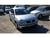 2002 VOLKSWAGEN POLO SE 1.4 PETROL 3 DOOR SILVER 91,000 MILES FULL SERVICE HISTORY CAMBELT REPLACED