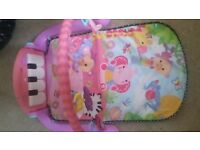 Baby piano mat (in pink)