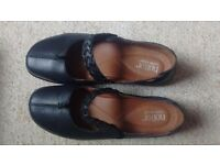 Hotter, Ladies black cushioned sole shoes
