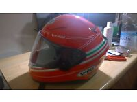 new shoei 1100 and clothes in leather, boots,locker with powerfull alarm