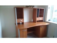 Home Office Workstation/Desk and Hutch