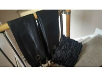 Black curtians and cushion