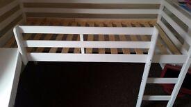 Kids cabin bed with slide