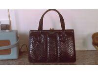 genuine 1960's leather handbag