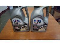 brand new unopened car engine oil Mobil Super 2000 - £ 30in Halfords 2 x 5 litres