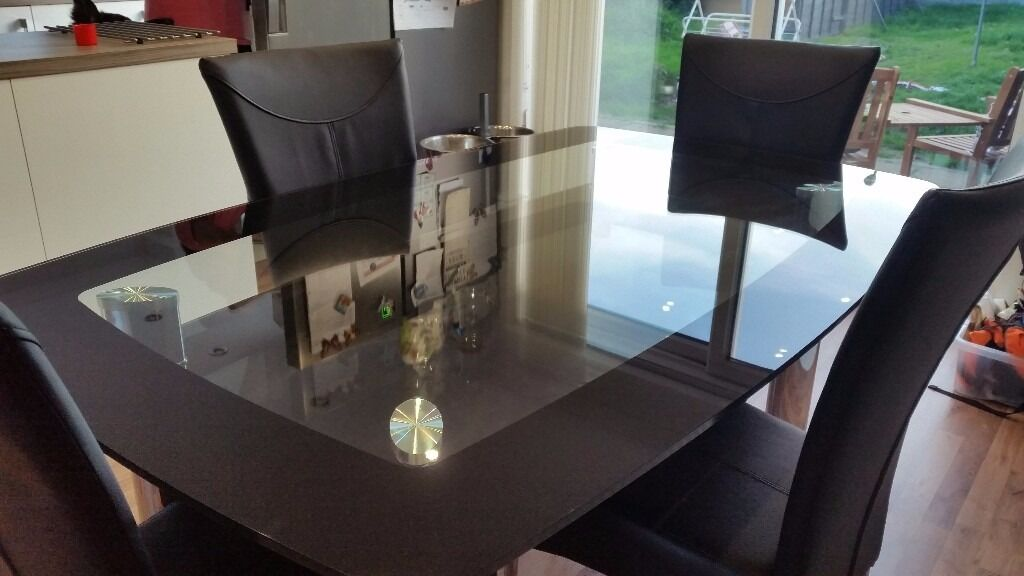 HARVEYS GLASS TABLE AND FOUR CHAIRS in Caerphilly Gumtree : 86 from www.gumtree.com size 1024 x 576 jpeg 65kB