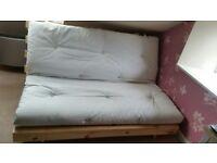 Traditional Futon with white mattress