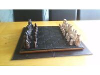 Retro chess set with board
